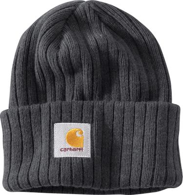 So thick, warming and such a customer favorite, the Carhartt Watch Hat stands out as a true winter icon. Carhartt label embroidered on front. 100% acrylic rib-knit fabric. One size fits most. Imported.Colors: Black Heather, Brown Heather. Carhartt Style No.: 100136 - $20.00