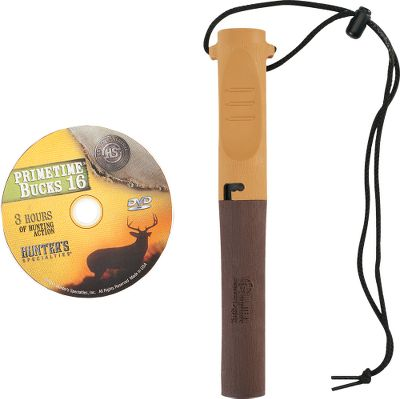 Hunting Based on the worlds first revolutionary deer call, the True Talker Legacy reproduces whitetail vocalizations. Flexible fingering membrane with patented ridges on tube for fingertip control. Includes lanyard, instructions, the True Talker and the Primetime Bucks 16 DVD. - $11.88