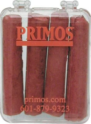 Hunting Keep your Primos box calls sounding sweet with this wax-free box chalk. You get four pieces of wax-free chalk with a plastic carrying case. Type: Miscellaneous Turkey Calls. Primos Box Call Chlk. - $3.99