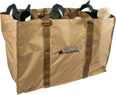 "Hunting Specially designed to store and transport goose floaters right into the water. Features six protective slots and a flotation bottom that easily drains residual water. Padded, adjustable shoulder straps. Lasting durable construction. Imported.Slot dimensions: 11""L x 11""W x 22""H. - $59.99"