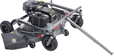 "Entertainment Finish-Cut 44 11.5hp/12-volt Mower Features a powerful 11.5hp Briggs Stratton engine, electric start and a rugged 1/8 tow-behind 44 cutting deck for handling your toughest mowing jobs. Precise, single-point cutting-height design for quick height adjustment from 1.5 to 4.5. Universal articulating hitch can be offset to the left, right or straight, while blade engage and disengage controls for the powerful twin-blade system ensure you remain safe. Bumper roller system deflects potential obstacles. Rear discharge chute. Battery not included. Made in USA.61L x 36W x 25H.Wt: 346 lbs.Finish-Cut 44 10.5hp Mower Take on tough mowing jobs with the powerful 10.5hp Briggs Stratton engine with recoil start and rugged 1/8 tow-behind 44 cutting deck. Precise, single-point cutting-height design for quick height adjustment from 1.5 to 4.5. Universal articulating hitch can be offset to the left, right or straight, while blade engage and disengage controls for the efficient twin-blade system ensure you remain safe. Bumper roller system deflects potential obstacles. Rear discharge chute. Pull start. Made in USA.61L x 36W x 25H.Wt: 340 lbs.Finish-Cut 60 17.5hp/12-volt Mower The 17.5hp, 12-volt electric-start Briggs Stratton engine offers safe, simple and reliable operation for the toughest mowing tasks you encounter. Variable cutting-height design for a quick adjustment from 1.5 to 5.5. Blade engage and disengage controls for the efficient three-blade system ensure you remain safe. Lock-out system, safety tether kill switch and electronic safety switch minimize accidents and prevent the unit from starting in gear. Battery cover with access panel ensures your battery and cables remain protected. Three 5-dia. anti-scalp rollers and the 60 true floating cutting deck prevent you from scalping grass. Side discharge chut Type: Pull-Behind Mowers. 60""14.5 Hp B&s. - $1,899.99"