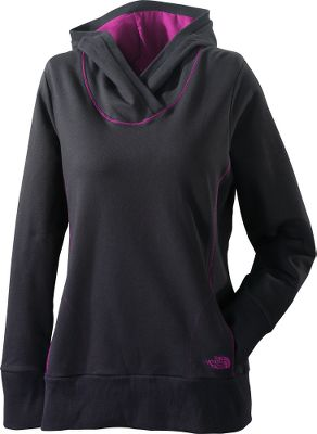 Soft French-terry fabric envelops you in cozy comfort. Front pockets. Attached hood. 95/5 cotton/elastane. Imported. Sizes: XS-XL.Colors: TNF Black/Premiere Purple, Vibrant Blue/Turquoise. - $34.99