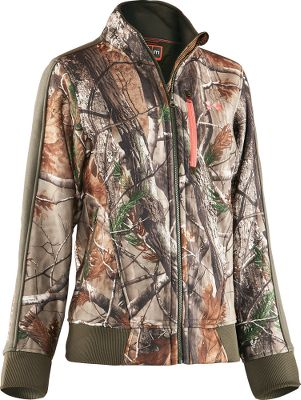 Hunting Slip into this 300-weight performance fleece jacket when the temperature drops and game is moving. The durable 7.5-oz. bonded-polyester, hard-face-fleece exterior combined with a Sherpa fleece interior forms an impenetrable barrier to wind and weather. Quick-dry lining wicks and evaporates moisture. Frontal venting, zippered handwarmer pockets and a chest pocket. ColdGear cuffs. Imported. Sizes: S-2XL. Camo patterns: Realtree XTRA/Perfection. Size: 2XL. Color: Xtra/Perfection. Gender: Female. Age Group: Adult. Material: Fleece. - $139.99