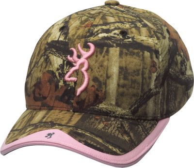 Hunting Pink accents make the traditional Buckmark stand out on this women's-fit cap. Pink trim on bill. Buckmark embroidery on back, too. Adjustable hook-and-loop closure. One size fits most. Imported.Camo pattern: Mossy Oak Break-Up Infinity . - $22.99