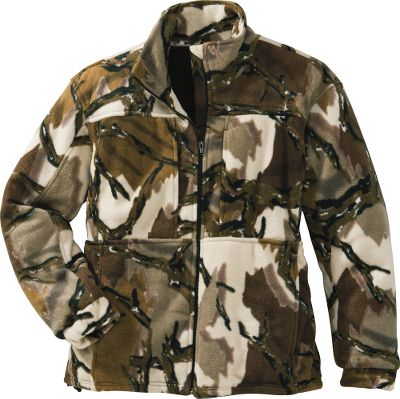 Hunting The Mens Predators Performance Fleece Jacket gives you warmth without bulk for chilly mornings and evenings in your stand. Deception, the newest pattern from Predator, uses three-dimensional images that eliminate the human form by disturbing an animals focus and depth perception. The large open shapes, earth tones and natural jagged intersections in Predators camo erase your outline and make you virtually invisible in any terrain, ground or treestand, in any season. The 380-gram heavyweight fleece is backed with a windshirt to keep you warmer. Great for layering and ultraquiet. Four zippered pockets. Imported. Sizes: M-2XL. Camo pattern: Predator Deception. Size: MEDIUM. Color: Predator Deception. Gender: Male. Age Group: Adult. Material: Fleece. Type: Jackets. - $89.99