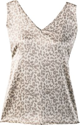 Catch some z s in the silky-smooth comfort of this exotic-printed sleep tank. Its 93/7 silk/spandex fabric and semifitted cut makes it ideal for a good night s rest. Basic, sleeveless pullover design. Machine washable. Imported. - $16.88