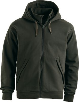 Built-in Storm Cotton technology in our Mens Roughneck Hoodie provides an advanced water-repellent finish in. It dries fast and, unlike many technical fabrics, the 80/20 cotton/polyester fleece fabric delivers the natural feel and warmth of cotton. Cinch the attached hoods metal-tipped drawcord for extra protection. Rib-knit cuffs and sweep. YKK zippers with rubberized pull tabs on front closure and pockets. Machine washable. Imported. Sizes: M-3XL. Colors: Evergreen, Night. Size: Medium. Color: Evergreen. Gender: Male. Age Group: Adult. Material: Cotton. Type: Hoodies. - $24.88
