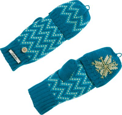 Ski With a complementary chevron pattern on the backs and a snowflake on the fronts, the tips of these gloves fold back to expose your fingers when you need added dexterity. 100% acrylic. One size fits most. Imported. Colors: Sangria, Scuba Blue, Black. - $12.88