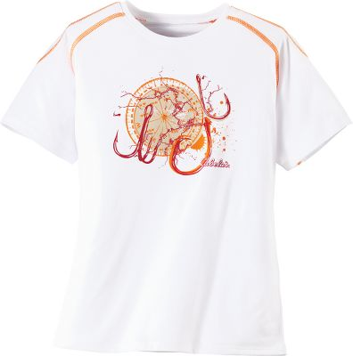 Bursting with Cabelas pride and adventurous spirit, this shirt is perfect for your young outdoorsman. Hell love the distressed graphics and contrast stitching in vibrant colors. Crafted of comfortable, moisture-wicking Dri-release jersey. Imported. Sizes: XS-XL. Colors: White/Hook, White/Fish, Neon Moss/Bass, Ice Lake/Mountain. Size: X-Large. Color: White/Fish. Gender: Male. Age Group: Kids. Pattern: Graphic. Material: Jersey. Type: Short-Sleeve Tee Shirts. - $12.88
