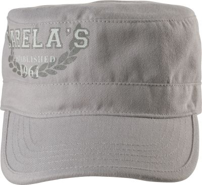 Classic military styling and rugged canvas paired with a feminine, distressed print. Hook-and-loop closure with Worlds Foremost Outfitter print centered on back. Brushed cotton canvas construction. One size fits most. Imported. Color: Light Grey. Size: One Size Fits Most. Color: Light Grey. Gender: Female. Age Group: Kids. Material: Canvas. Type: Caps. - $9.88