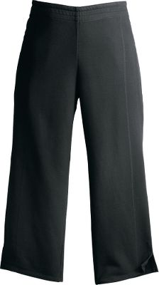 With unique side panels, these incredibly soft French terry capris give you a high dose of comfort and freedom of movement. Wide elastic waistband and modern-rise fit sit lower on the waist. Semifitted style, akin to yogawear, features 2-1/2 slits at the calves for that touch of flair. An antimicrobial treatment resists odors for added comfort and extended wear. 94/6 cotton/Lycra. Imported.Inseam: 21.Sizes: S-2XL.Colors: Black, Grayling. - $19.88