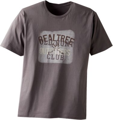 Hunting Combining old and new hunting icons, it features an Old Hunt Club sign ghosted behind the popular Realtree Outfitters antler logo. Made of preshrunk, 6.1-oz 100% cotton for softness and all-season comfort. Imported.Sizes: M-2XL.Color: Charcoal Heather. - $17.99