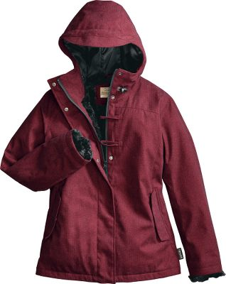 Take on cold weather in style and comfort. Moisture-resistant polyester dobby shell repels snow and light rain, while warmth-trapping Thinsulate Insulation blocks the cold without excess bulk.The plush, high-loft sheared knit lining in the body, cuffs and interior pockets delivers superior comfort. Arms and side panels are satin-lined for easy on and off. Zippered front with storm flap and stylish toggle closures. Interior chest pocket stores electronics or other valuables. Imported.Sizes: S-2XL.Color: Brick Red Heather. - $79.88