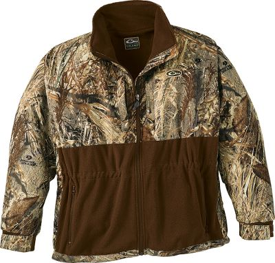 Hunting Updated design has a superior combination of features needed to keep you comfortable and minimize the layers of clothing you wear to the blind. 100% waterproof, windproof, breathable microfleece with HyperShield 2.0 Technology in the shoulders, chest and arms areas most frequently exposed to the elements. Magnattach call pockets. Full-length internal storm flap. Midtorso internal drawstring for reducing bulk under waders. Lower pockets with zipper closures. Adjustable neoprene cuffs. Wind-blocking turtleneck collar with a full-zip front. Can be combined with layering pieces or worn alone to obtain an ideal comfort zone. Imported. Sizes: M-2XL. Camo patterns: Mossy Oak Duck Blind, Realtree MAX-4. - $69.99