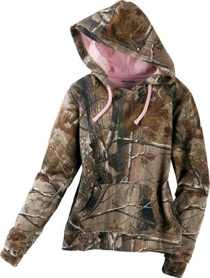 Hunting Warm, super-soft fleece in your favorite camo pattern. Made of a cozy yet durable 73/27 cotton/polyester blend. Drawstring hood. Kangaroo pockets. Machine washable. Imported.Sizes: M-2XL.Camo pattern: Realtree AP. - $29.99