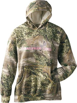 Hunting you'll have no problems blending in on a sage-strewn hillside or standing out in a crowd while wearing this Realtree Girl Women's MAX-1 Hoodie. Featuring the popular Realtree MAX-1 camouflage and a touch of pink, this hoodie is made of a durable and cozy blend of 80/20 cotton/polyester. Screen printing and kangaroo-style handwarmer pocket on front. Machine washable. Imported. Sizes: S-2XL. Camo pattern: Realtree MAX-1 /Pink. - $19.88