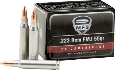 Hunting There was a time when high-volume shooters bought steel-cased cartridges to save money, only to discover that lacquer coating on the cases gummed up chambers. Youll have no such worries with this ammunition. MFS uses a special zinc plating on its cartridge cases that wont impede the performance of your firearm or foul the chamber.Available: Per 500 - One Dry-Storage Box. - $169.99