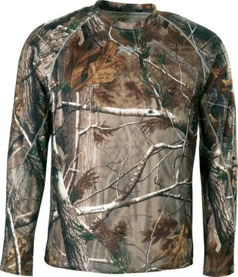 Hunting Scent-Lok's moisture-wicking base-layer Mid Weight top perfectly blends moisture management with odor control, adding a new solution to your scent-control strategy. This polyester-blended garment is antimicrobial treated to control odor-causing bacteria. Ideal for cooler days or cold days with high activity. Imported. Sizes: M-2XL.Camo pattern: Vertigo Tan. - $19.88