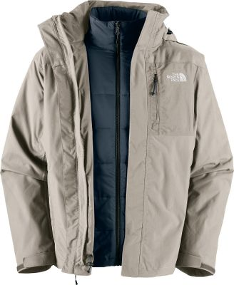 This versatile 3-in-1 jacket features a waterproof, breathable nylon HyVent 2L shell and a removable Triclimate liner insulated with 100-gram Heatseeker insulation. Seam-sealed shell also features a removable hood, zip chest pocket, two handwarmer pockets, security pocket, storm flap, zip-in compatibility and two pit zips. Liner jacket has two handwarmer pockets and a cinch-cord hem. Imported.Sizes: M-2XL. Colors: Molten Red, TNF Black. - $159.88