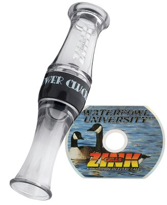 Hunting The Power Goose Pack includes the polycarbonate Power Clucker PC-1 Short-Reed Goose Call along with the 30-min. Waterfowl University 1st Base instructional DVD. In the DVD, learn from the Z-Unit how and when to use this very popular call as you enjoy hunting action on the screen. It's a great combo for helping novice waterfowlers learn to call correctly.Color: Smoke. - $29.99