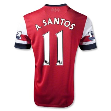 Entertainment Youth Arsenal A.SANTOS #11 Home Soccer Jersey 2012-13 Season