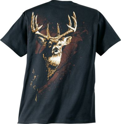 Hunting Crafted for those with an appreciation of the hunting lifestyle. Buck Wear shirts sport screen-printed graphics on the front and back. 100% preshrunk heavyweight cotton. Machine washable. Imported.Sizes: M-2XL.Color: Black. - $9.99