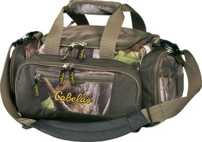 Camp and Hike You wont find a better gear bag for a lower price. Its durable, weather-resistant 600-denier polyester construction makes it ideal for toting everything from packable rain gear to extra odds and ends. Sturdy 1-12 nylon web carry straps can be joined by a hand-friendly wrap handle. Six exterior pockets, including zippered mesh pockets on top and side, provide multiple storage and organization options. Embroidered Cabelas logo on front pocket. Imported. Overall dimensions: 16L x 10W x 8H. Capacity: 1,280 cu. in. Weight: 1 lb. 3 oz. Colors: Camo, Pink Camo. Color: Pink. Type: Gear Bags. - $9.99