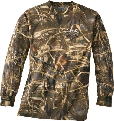 Hunting Lightweight tee can be worn from the duck blind to the playground. Screen-printed Mallard Classic logos on front and back. Rib-knit collar. Made of 4.2-oz. 60/40 cotton/polyester jersey. Imported. Sizes: S-XL.Camo pattern: Realtree MAX-4 . - $19.99
