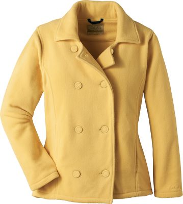 Enjoy more brisk-weather walks in a coat that delivers standout style. Six front buttons, distinguished lapels and princess seams create a unique and feminine appeal. Crafted of anti-pilling Polarfleece for unbeatable softness, superior warmth and a crisp, clean look. Two front hand pockets. 100% polyester. Imported. Sizes: S-2XL.Colors: Black, Rusk, Oceanside, Cordovan. - $22.88
