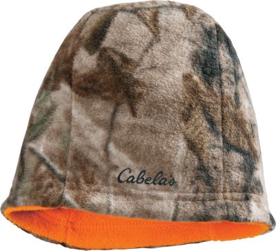 Hunting From bow to rifle hunts, our Mens Reversible Fleece Beanie has you covered. Soft, quiet and warm 300-gram fleece reverses for the versatility to match most types of hunts. One size fits most. Imported. Camo patterns: Cabelas Zonz Western/Cabelas Zonz Woodlands, Realtree MAX-5/Realtree APS , Realtree XTRA/Blaze Orange, Mossy Oak Break-Up Country. Size: One Size Fits Most. Color: Max 5/Realtreesnow. Gender: Male. Age Group: Adult. Pattern: Camo. Material: Fleece. Type: Beanies. - $14.99