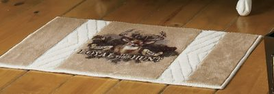 Hunting Catch a glance of that once-in-a-lifetime trophy every time you open your bathroom door. Plush, 20 x 34 bath rug is made of 100% nylon. Imported. - $19.88