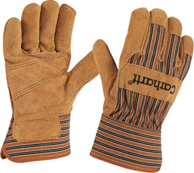 Hunting 100% cotton duck gloves reinforced with durable suede leather patches on the palms, fingers and across the knuckles to protect against work hazards. Easy on and off safety cuffs. Imported. Sizes:M-2XL. Color: Brown. Carhartt Style No.: A519. Size: MEDIUM. Color: Brown. Gender: Male. Age Group: Adult. Type: Gloves. - $12.99
