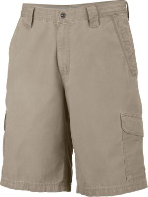 Utilitarian cargo shorts with a classic fit and billowed cargo pockets for expanded storage of essentials. Omni-Shield advanced repellency wards off rain. Omni-Shade UPF rating of 50 for sun protection. Rugged, garment enzyme-sandwashed 100% cotton canvas. Interior printed pocket bag. Imported.Inseams: 10, 12.Even waist sizes: 32-42. Colors: Fossil, Abyss. - $44.95