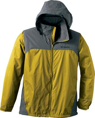 Columbias Mens Glennaker Lake Rain Jacket is lightweight, no-frills rainwear that offers packable convenience and advanced Omni-Shield repellency that beads moisture on contact. Zippered handwarmer pockets. Adjustable layback hood and elastic cuffs. Imported. Sizes: S-2XL. Colors: Black/Grill, Blue Jay, Bright Red/Grill, Columbia Grey/Boulder, Commando/Shark, Tusk/Grill. Size: Medium. Color: Tusk/Grill. Gender: Male. Age Group: Adult. Type: Jackets. - $39.99