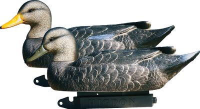 Hunting Super-sized, 20 decoys attract long-range ducks. Their dark color is easy for ducks to see from a distance, making these the perfect addition to any spread. Swivel heads add variety and realism. Includes two upright drakes, one relaxed drake, two relaxed hens and one upright hen. Per 6. - $74.99