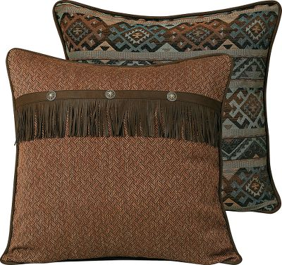 Entertainment A perfect accent to the Del Rio Bedding Collection, this sham sports chenelle designs on one side and comforting tweed detailed with conchos on the other. Crafted of polyester. Imported.Dimensions: 27 x 27. - $49.99