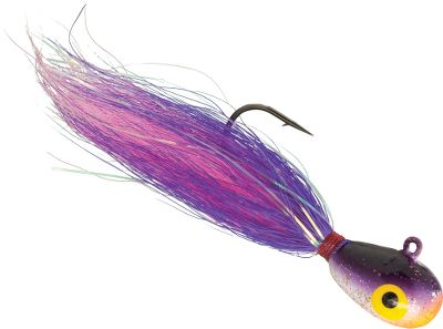 Fishing The teardrop head dives it down to where the action is. Perfect for fishing in fast currents and deeper waters. Undulating bucktail body delivers a lifelike presentation. Per 2. Sizes: 3/8 oz., 1/2 oz. Colors: (002)Purple Shiner, (008)Blue Shiner, (013)Pink Shiner, (023)Chartreuse Shiner, (032)Firetiger. Color: Chartreuse. - $3.99