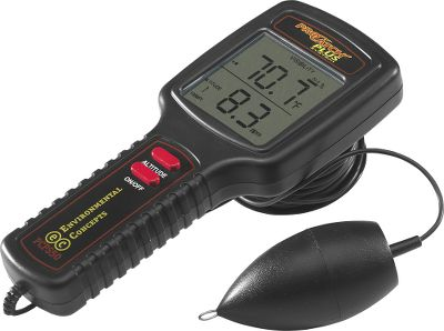 Fishing All the information you need to judge the fishing quality of a section of water and locate feeding fish is instantly displayed on this easy-to-use meter. The PCP 50 Probe measures light intensity to 50 ft. and computes temperature (30 -90 F) with a one-second response time. It's so fast, it can even identify thermoclines. Plus, it displays water clarity from zero to 6 ft., percent of visibility, dissolved oxygen content and even recommends lure colors and type from the all-time 12 top producers. Includes probe, 50 ft. cable, storage spool and attachment, battery and comprehensive guidebook. One-year manufacturer's warranty. - $59.88