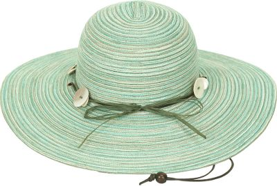 Radiating a beautiful and carefree style, this Sunday Afternoons Womens Caribbean Hat offers excellent sun coverage for beach lounging or garden work. Hat boasts a UPF rating of 50. 4.5 brim shields your eyes from the sun. Adorned with a shell-accented headband and an adjustable leatherette chin strap. Made of a breathable 100% polyester braid. Packs for travel. One size fits most. Imported. Colors:Dune, Coral, Ocean, Blue Shadow. Size: One Size Fits Most. Color: Ocean. Gender: Female. Age Group: Adult. Material: Polyester. Type: Headwear. - $32.00