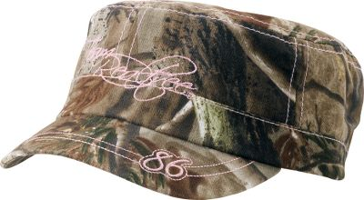 Hunting A fashionable, cadet-style camo cap with contrasting pink stitching. Team Realtree logo at front in pink flowing script. Hook-and-loop adjustable closure for a perfect fit. One size fits most. Imported.Camo pattern: Realtree AP. - $19.99
