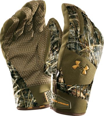 Hunting Waterproof, breathable protection with 80 grams of insulation for warmth. Grippy palms. Adjustable cuffs. Imported. Sizes: S-XL.Camo patterns: Realtree AP, Realtree MAX-4. - $49.99
