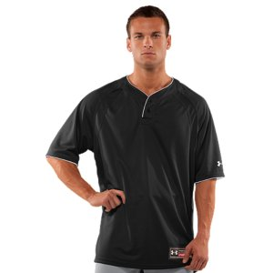 Sports Ideal for team sports, with logo placement and colors specifically made to add team pride to UA performanceLightweight HeatGear(R) mesh breathes to keep you cooler, drier, and more comfortableSignature Moisture Transport System and strategically-placed mesh dump moist heat  to keep you dryRaglan sleeve construction allows for a full range of motion, while eliminating shoulder seam abrasion points for chafe-free wearExtra-long length keeps it tucked in for better comfort2-button opening for easy on/off and variable temp control100% Polyester MeshImported - $21.99