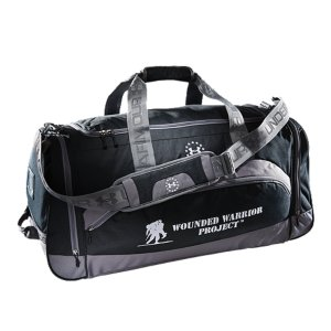 "Entertainment This bag is an Official Wounded Warrior Project(TM) Licensed productWounded Warrior Project(TM) will receive 10% of the net sale of this product through December 31st, 2014Mesh ventilation for breathabilityAdjustable, padded shoulder strap and carry handleCustomizable card for team number or initials identificationSide pocket pull handle for easy grab accessInterior key pocketDimensions: 24.75"" x 18.75"" x 14""Cubic Volume: 5500Polyester/NylonImported - $52.99"