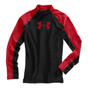 Fitness Whether you're supporting your team or training in the cold-you know UA ColdGear(R) will keep you warm and dry. The UA Competition baselayer mock starts with that same great ColdGear(R) performance. Then we add bold style that matches back to team colors and hometown loyalties. Support your team-and stay warm-on the field or in the stands. Dual-layer fabric gives you an ultra-warm, brushed interior and a slick, fast-drying exterior4-way stretch fabrication allows greater mobility and maintains shapeSignature Moisture Transport System wicks sweat away from the body Anti-odor technology prevents the growth of odor causing microbesRaglan sleeve construction and flatlock stitching allow a full range of motion without chafingMix of embossed, printed, heathered, and solid panels7 oz. Polyester/ElastaneImported - $33.99