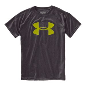 Fitness UA Tech(TM) fabric is quick-drying, ultra-soft & has a more natural feel.  Moisture Transport System wicks sweat & dries fast.  Anti-odor technology prevents the growth of odor causing microbes.  3.9 oz. Polyester.  Imported. - $19.99