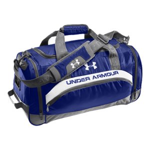 "Fitness Ideal for training, this duffel bag features tons of room for your gear, in and out of the gymMesh ventilation for breathabilityAdjustable, padded shoulder strap and carry handleCustomizable card for team number or initials identificationSide pocket pull handle so it's easy to grabDimensions: 24.5"" x 12.5"" x 11.5""Cubic Volume: 3800Polyester/NylonImported - $44.99"