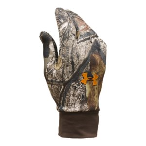 Hunting The hunt is unpredictable. That's why you need hunting gloves you can count on. Highly water-resistant, breathable, and lightweight, our Hurlock Gloves don't just take the cold-they kill it with our advanced ColdGear(R) fabric so your hands stay warm and dry when the mercury drops. 4-way stretch ensures maximum comfort and dexterity in and out of the woods, and a super-grippy silicone palm delivers unrivaled control. Styled to be stealth with UA's specialized hunting camouflage design, they'll never see you coming. A highly water-resistant, breathable, lightweight athletic fleece for extra comfort no matter what Mother Nature throws at you4-way stretch fabric with durable Nylon face, increases mobility and accelerates glove dry time while remaining protective to keep you comfortableSilicone grippy palms deliver extra grip support when you need it mostStyled to be stealth with UA's specialized hunting camo designSold in pairsImported - $34.99