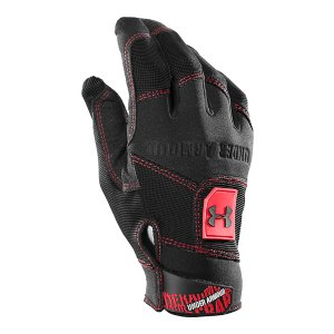 Fitness Quick-drying HeatGear(R) fabric wicks moisture away, keeping your hands cooler and drierSilicon palm delivers superior grip for sharp shootingAdjustable cuff closure for a perfect fit that won't budgeGripper gloves feature bold, front UA logo for extra swaggerGloves come in pairsImported - $17.99