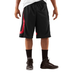 "Sports When you're ready to unleash on the court, the last thing you need is heavy, tight, sweaty shorts dragging you down. UA's basketball shorts use our signature sweat-wicking, quick-dry construction to keep you light. We made them loose to keep you mobile. They're also made of a durable, textured dazzle fabric to make sure you shine when you hit the spotlight. Catch those stares and get aggressive. Textured dazzle fabric delivers durability and shine on the courtSignature Moisture Transport System wicks sweat away from the bodyCovered elastic waistband provides a comfortable fitMesh hand pockets12"" inseam7.2 oz. PolyesterImported - $25.99"