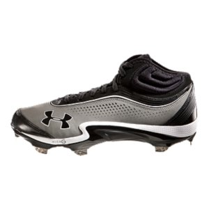Sports UA is the Official Performance Footwear Supplier of MLBRe-engineered Rotational Traction Technology sets extra-wide UA Fang(TM) spikes in a circular 6-3 configuration to boost speed, power, and torqueDurable leather and perforated nubuck upper looks great, breathes greatFull-length, super-light Micro G(R) ultra-responsive cushioning delivers low-profile stability and comfortMolded 4D Foam(R) insole forms to your foot, preventing internal foot slip while improving lateral stability Rigid ArmourGuide(R) TPU outsole improves medial and lateral support and stabilityWithout adding an ounce of weight, UA Fang(TM) Spikes put 20% more surface area between you and the ground so you explode to top speed faster4D Foam(R) collar adds incredible cushion between you and the more rigid outer collar so you get the support without the discomfortImported - $67.99